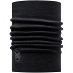 Buff Heavyweight Merino Wool Neckwarmer -solid Black
