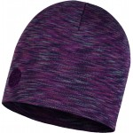 Buff Heavyweight Merino Wool Regular Hat - Shale Grey Multi Stripes