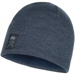 Buff Knitted Hue Solid Navy