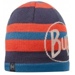 Buff Knitted & Polar Hat - Ovel Blue