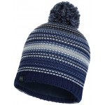 Buff Neper - Knitted & Polar Hat - Blue Ink