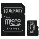 Kingston 32gb Micsdhc C Select+ 100r A1 C10 Card + Adpt. - Diverse