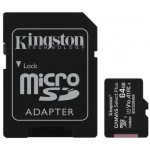 Kingston 64gb Micsdhc C Select+ 100r A1 C10 Card + Adpt. - Diverse