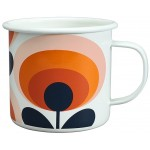 Orla Kiely - Enamel Mug Oval Flower Orange