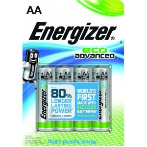 Image of   Batteri Energizer ECO LR6/ AA,1.5V,4st