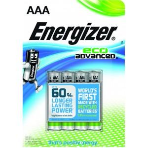 Image of   Batteri Energizer ECO LR6/ AAA,1.5V,4st