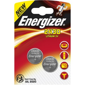 Image of   Batteri Energizer Lithium button 2430,3V 2 pack