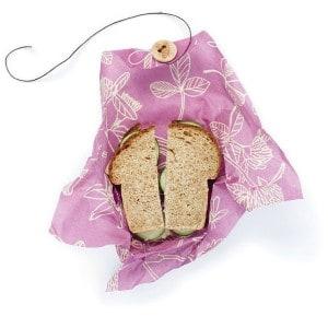 Billede af Clover print mimis purple sandwich wrap bees wrap