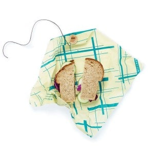 Billede af Geometric Print Everybodys Teal sandwich wrap bees wrap