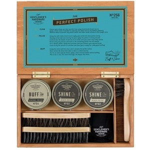 Image of   Shoe Shine Kit In Wood Box