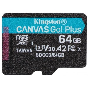 Kingston 64gb Microsdxc Canvas Go Plus 170r A2 U3 W/o Adp - Diverse
