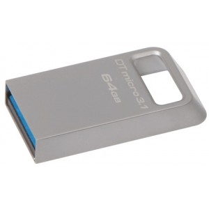 Kingston 64gb Usb 3.1/3.0 Dt Micro Ultrakompakt, Metal - Diverse