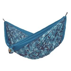 Blå camo la siesta colibri double rejsehængekøje