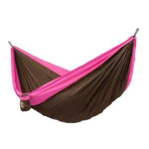Pink double la siesta colibri rejsehængekøje