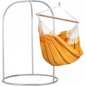Image of   Currambera Apricot - Lounger-hængekøjestol Med Pulverlakeret Stål- Stativ