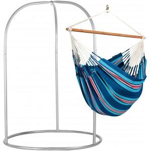 Image of   Currambera Blueberry - Lounger-hængekøjestol Med Pulverlakeret Stål- Stativ