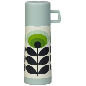 Orla Kiely - Flask Small Oval Flower Green