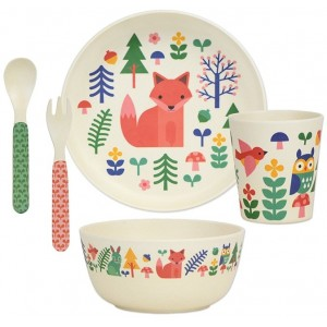 Image of   Bamboo Dinnerware Set Forest
