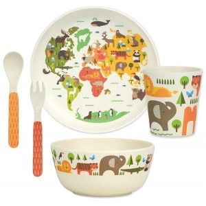 Image of   Bamboo Dinnerware Set World