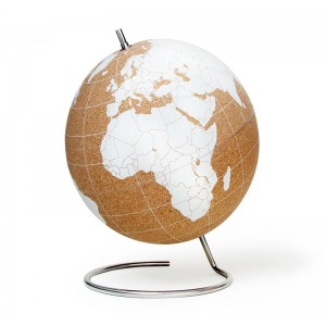 Image of   White Cork Globe Large