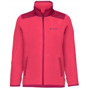 Billede af Vaude Kids Racoon Fleece Jacket - Bright Pink - Str. 110/116 - Fleecetrøje