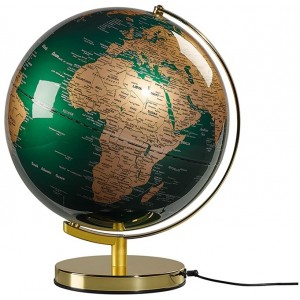 Image of   Globe Light Green & Brass